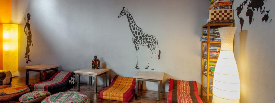Masajka i żyrafa – podest – slajder