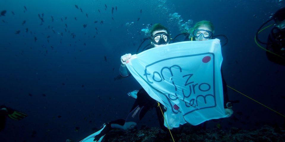 Tam i z Powrotem pod wodą. Malediwy. Foto by Wojciech Zgoła.