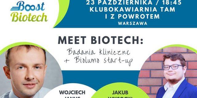 Meet Biotech Warszawa #29: Badania kliniczne + Biolumo start-up